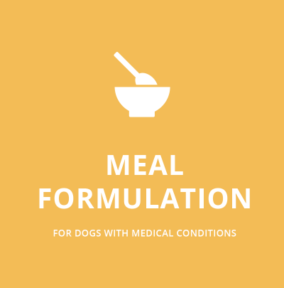 Meal Formulation for dogs with medical conditions